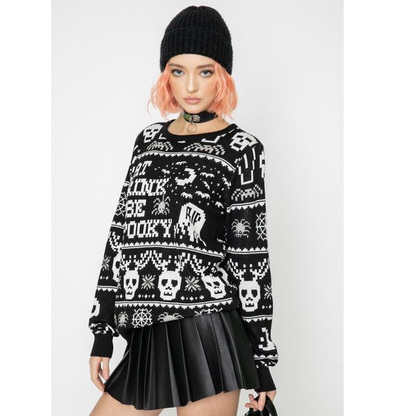 Too Fast Eat Drink N' Be Spooky Knit Sweater