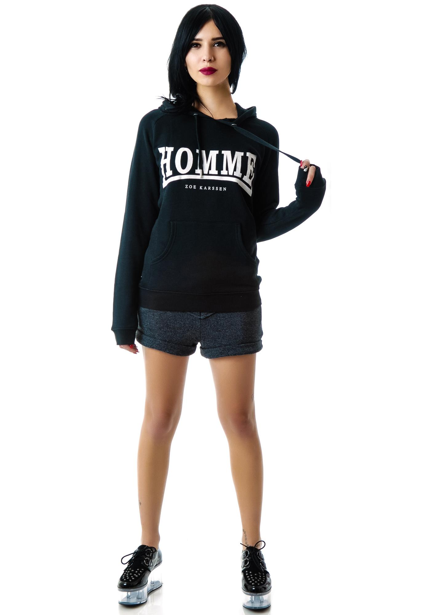 zoe karssen homme pullover hoodie dolls kill. Black Bedroom Furniture Sets. Home Design Ideas