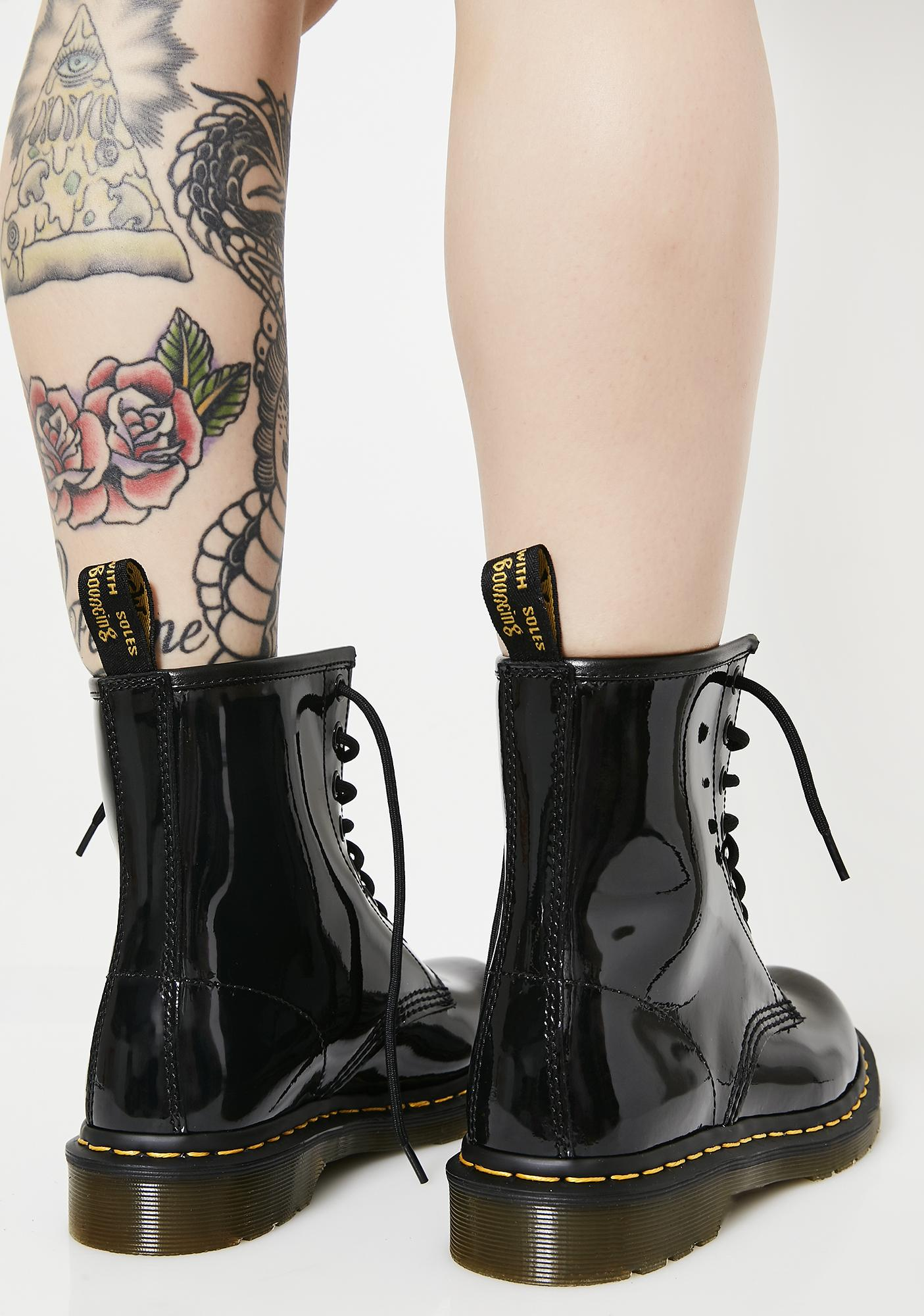 2afd02c4662 Black Patent 1460 8 Eye Boots