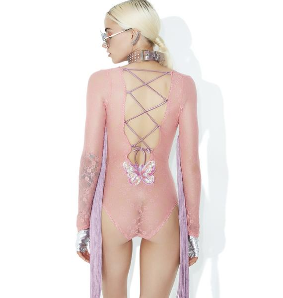 Club Exx Ultra Luv Bug Fringe Bodysuit