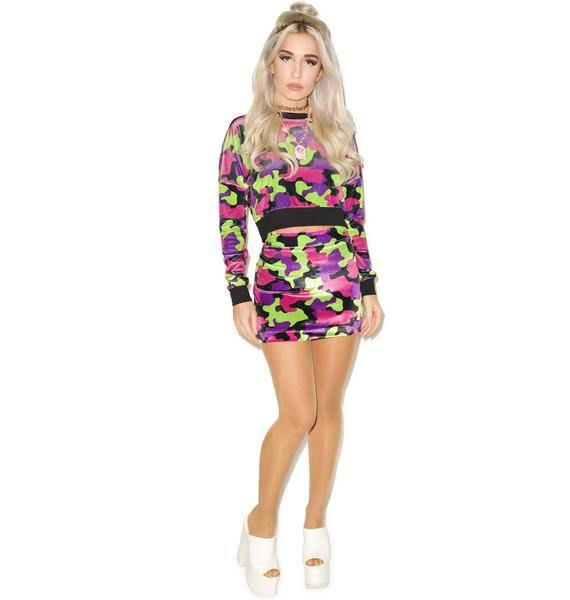 Hi! Expectation Camo Skirt