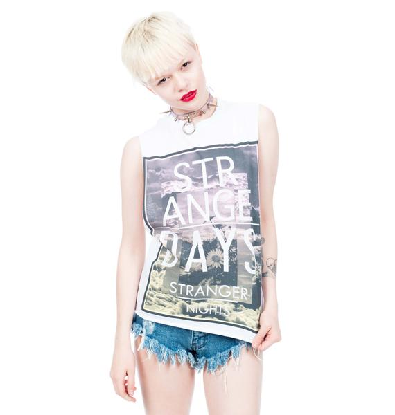 Civil Clothing Stranger Nights Crop Muscle Tee