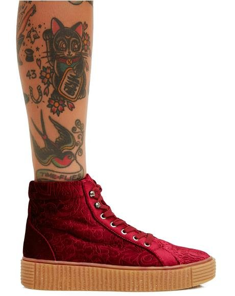 Move In Silence Velvet Creeper Sneakers