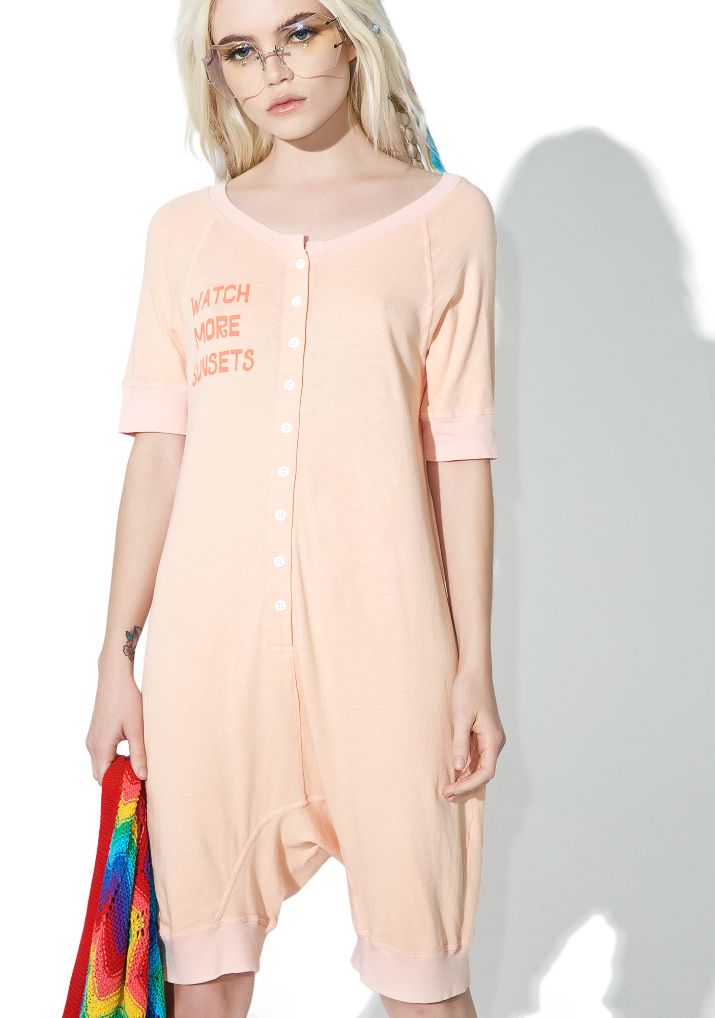 Daydream Nation Peach Sunsets Suit