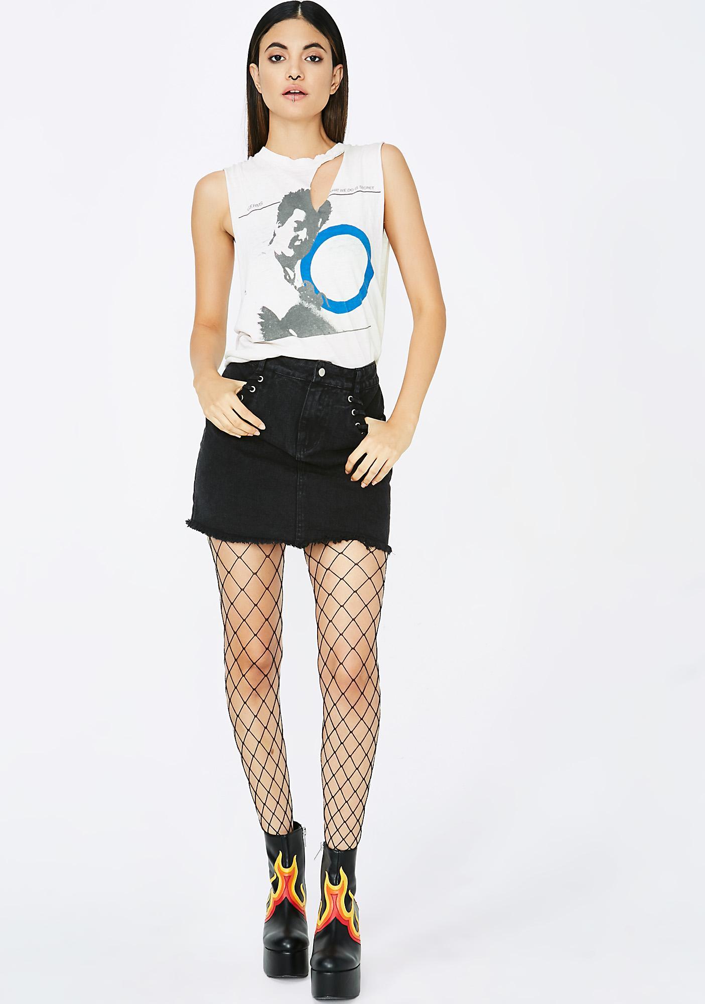 Nothin' But Trouble Denim Skirt