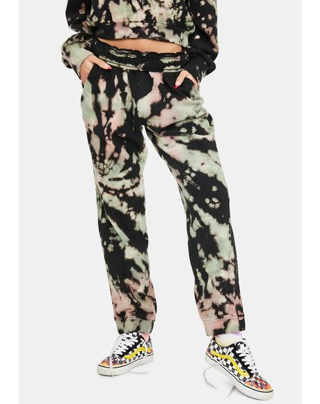 Earthy Tie Dye Costa Sweatpants