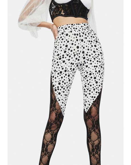 Purely Retro Affair Polka Dot Leggings