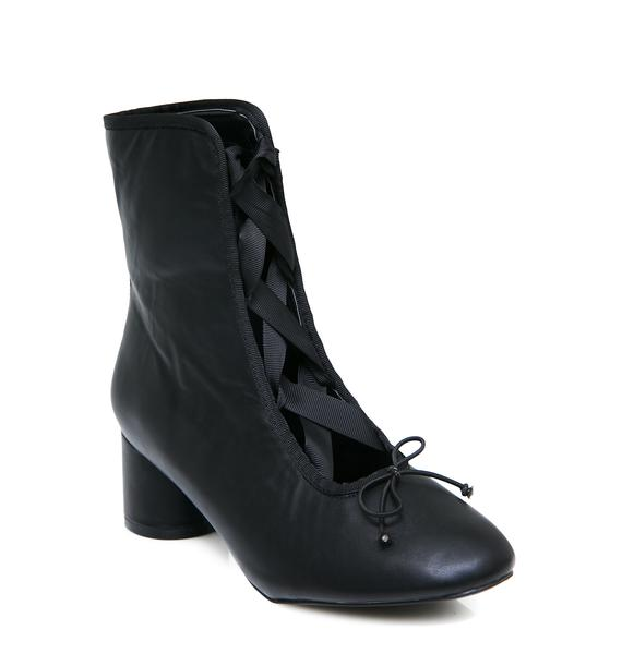 Dark Pirouette Lace-Up Boots