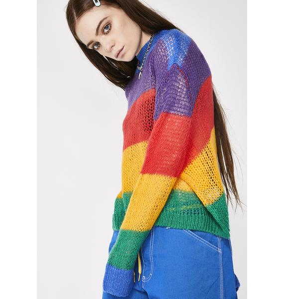 Lazy Oaf Rainbow Oversized Knit