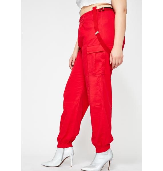 Poster Grl Straight Litty Goal Digger Suspender Pants