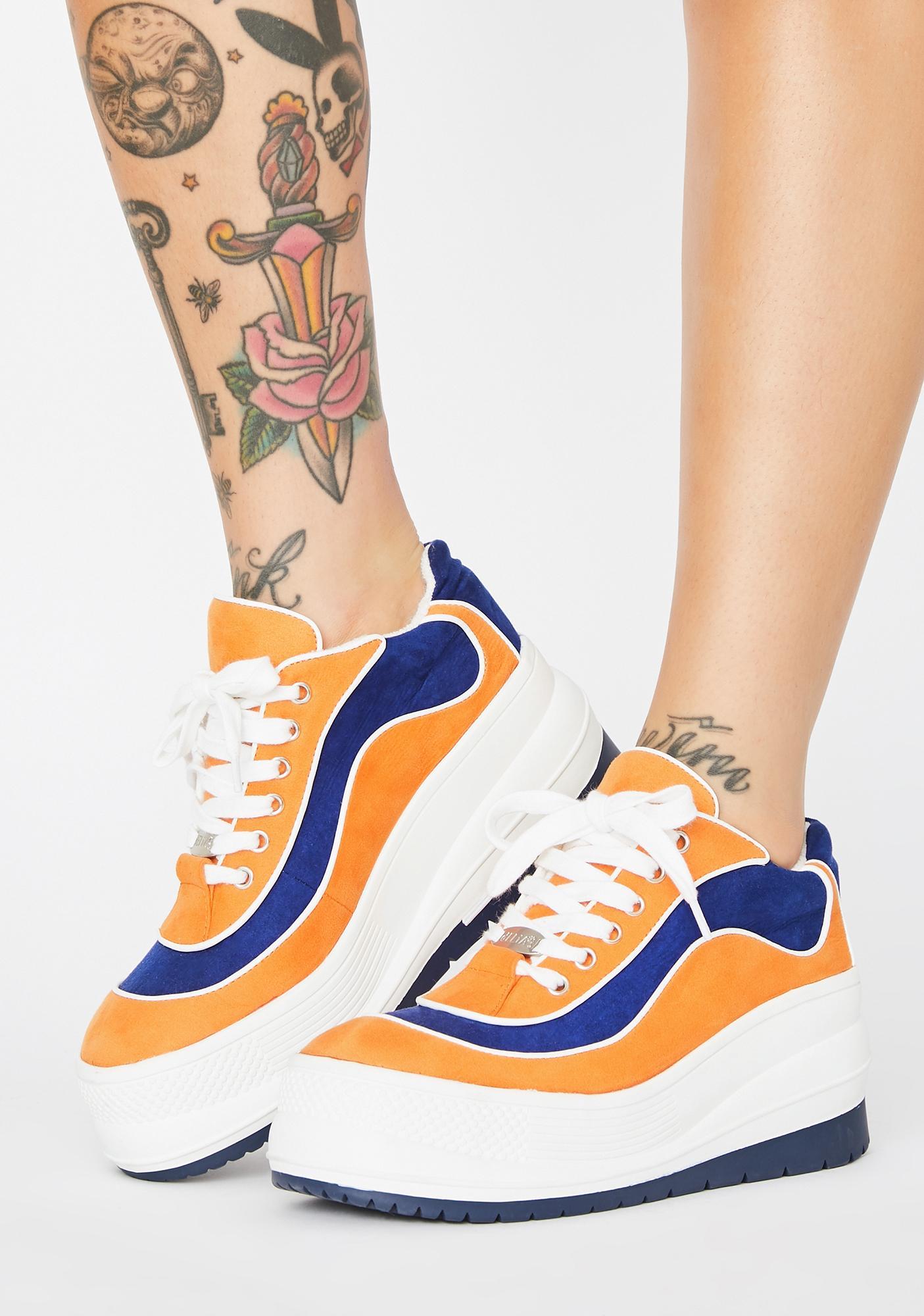 dELiA*s by Dolls Kill Totally Dunkadelic Platform Sneakers