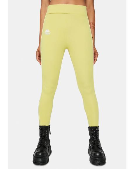 Yellow Lime 222 Banda Bartes Sport Leggings