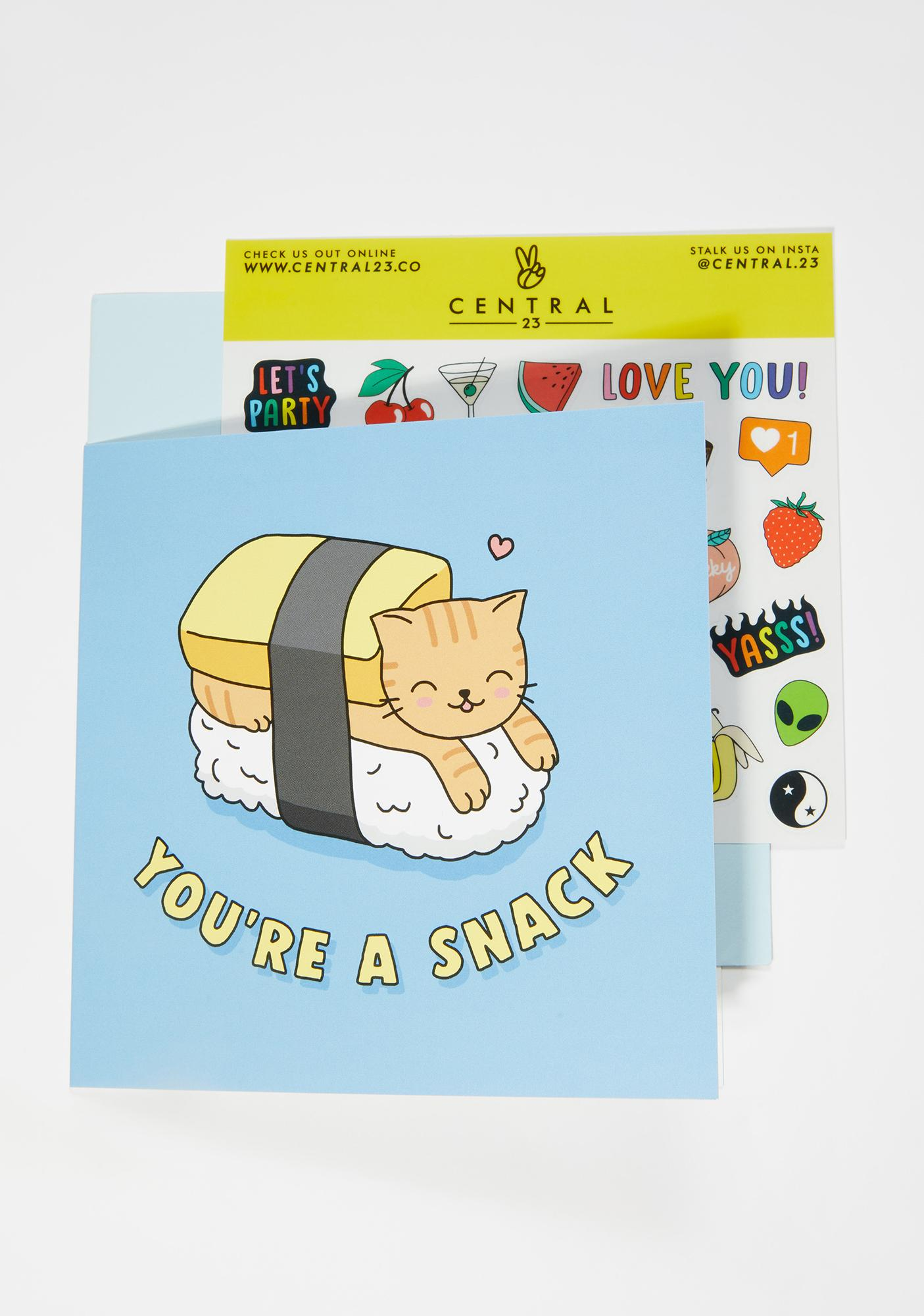 Central 23 You're a Snack Card