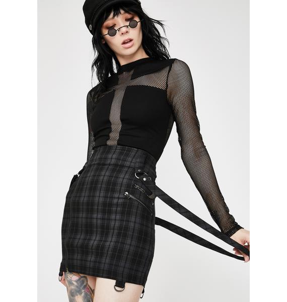 Killstar Tartan Adele Mini Skirt