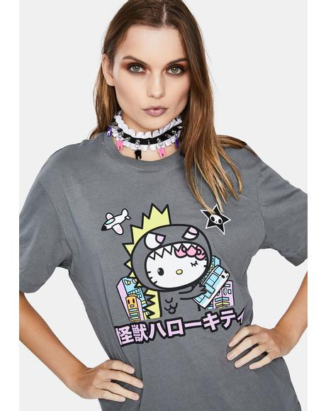 X Hello Kitty Monster Kitty Graphic Tee