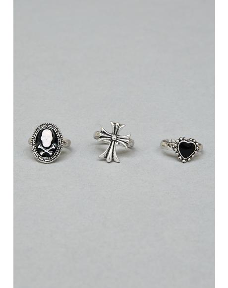 Dark Emblems Ring Set