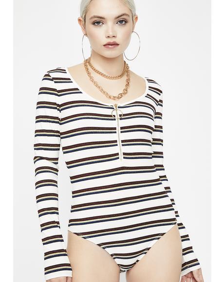 Chill Not Yo Homie Stripe Bodysuit