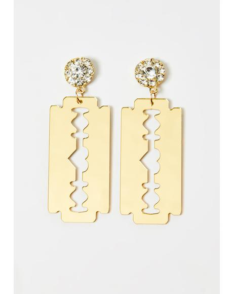 Lethal Love Razor Blade Earrings