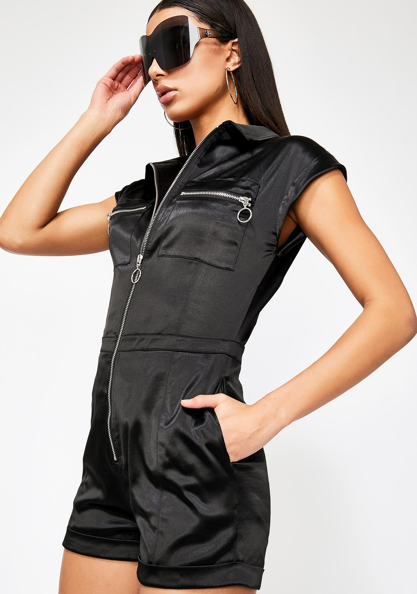 Poster Grl No Days Off Utility Romper
