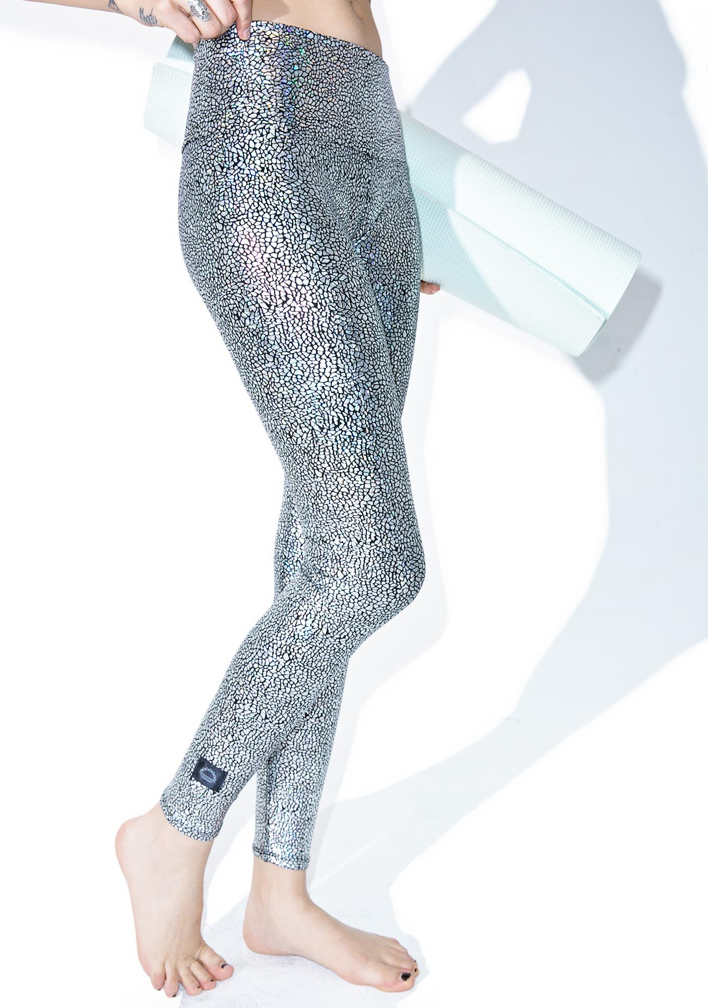Purusha People Silver Hologram Leggings