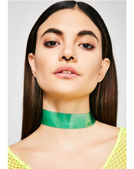 Roll Up Clear Choker