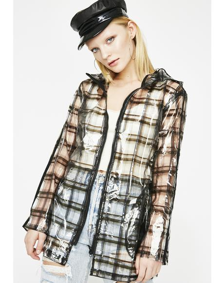 Baddie In Plaid Clear Jacket