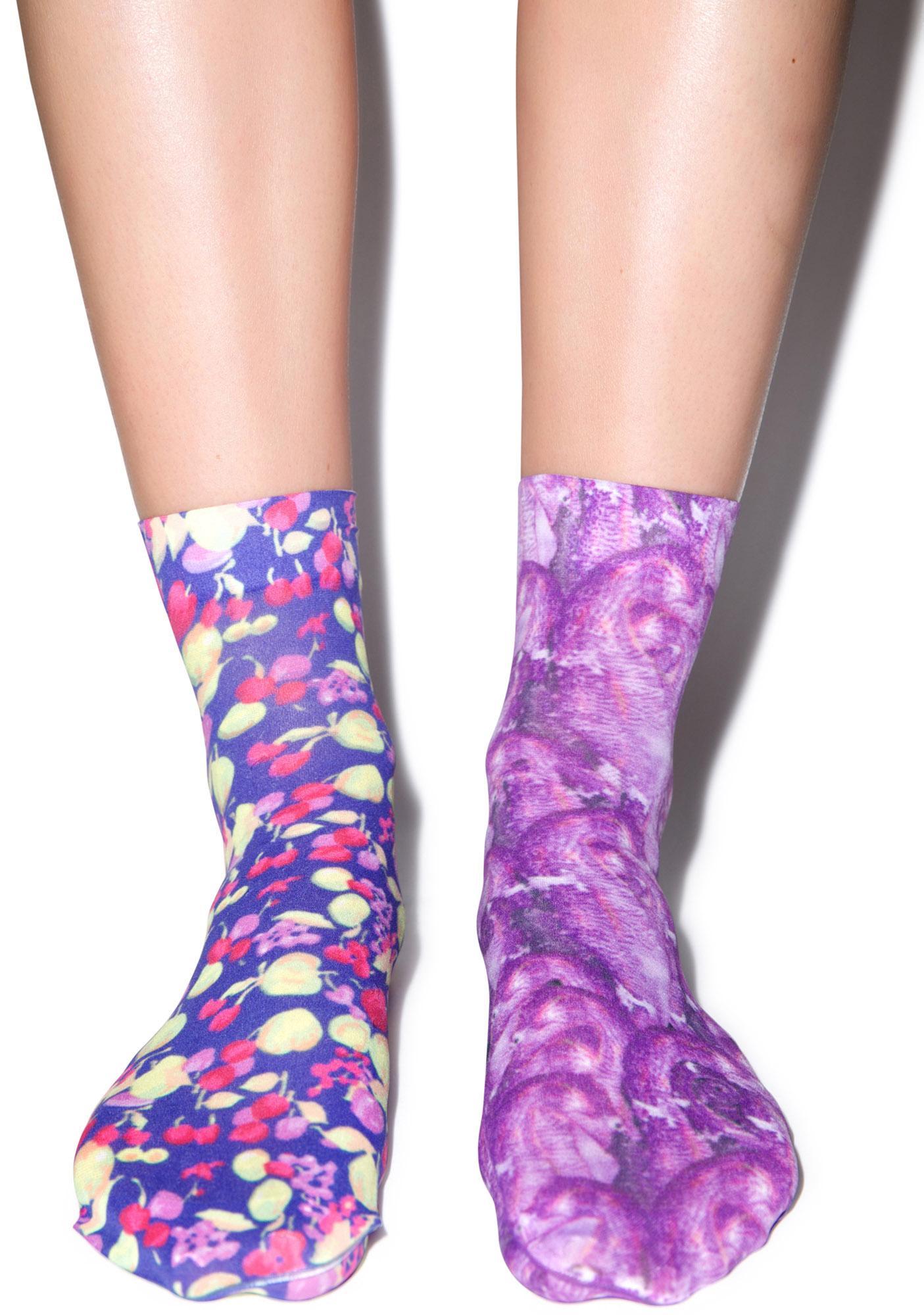 Hot!MeSS Fruitbowl & Seahorse Pop Socks Set