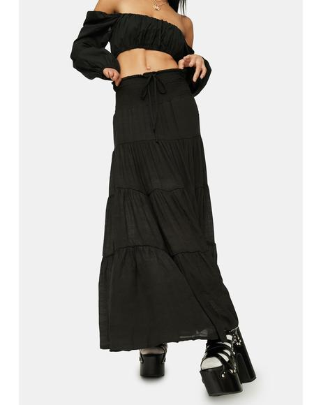 Take It Easy Smocked Maxi Skirt