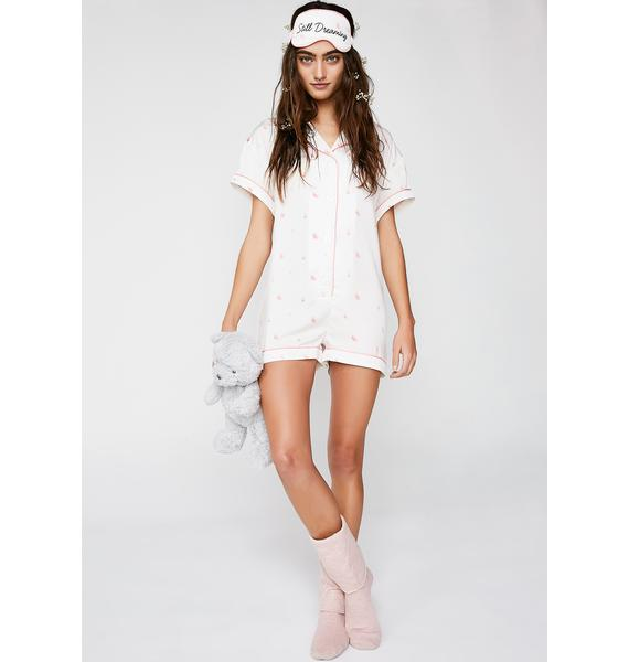 Wildfox Couture Rosebud Wallpaper Keller Romper