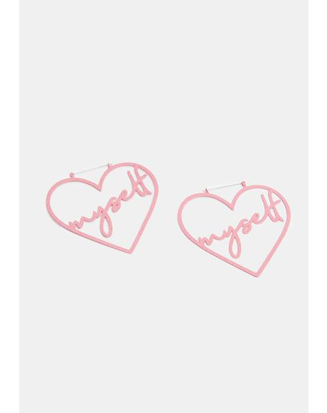 Heart Myself Hoop Earrings