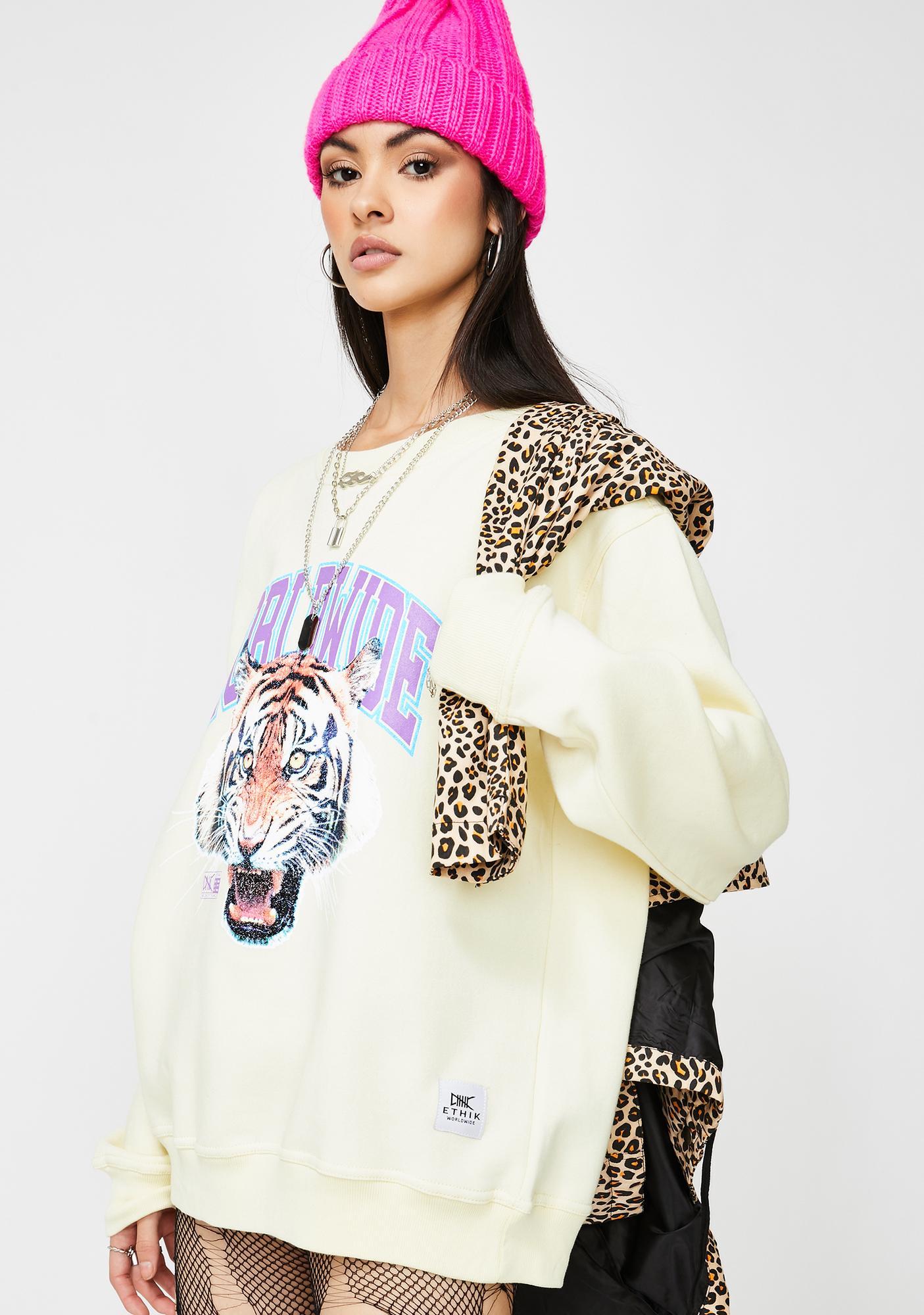 ETHIK Tiger Style Crewneck Sweatshirt