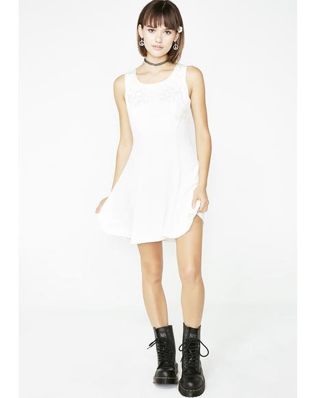Vintage 90s White Mini Dress