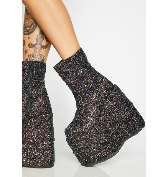 Demonia Galaxy Soul Stomper Stack Boots