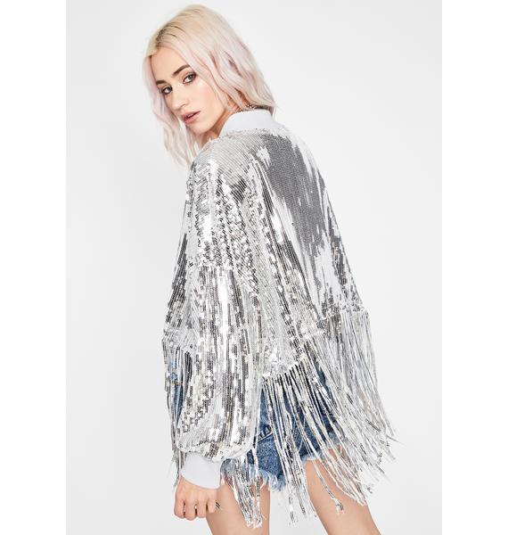 Icy Bliss Darkwave Sequin Jacket