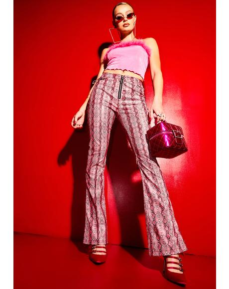 Now We're Jammin' Snake Print Cigarette Trousers