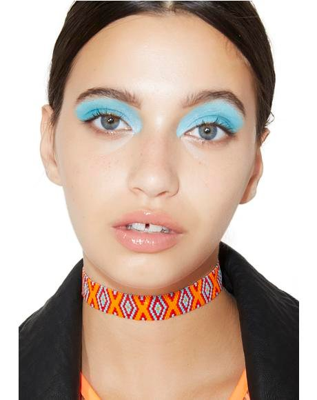 Hitchin' A Ride Beaded Choker