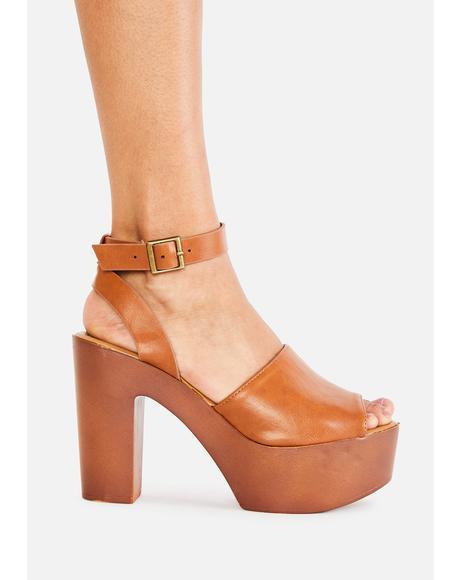 Natural Boho Babe Platform Heels