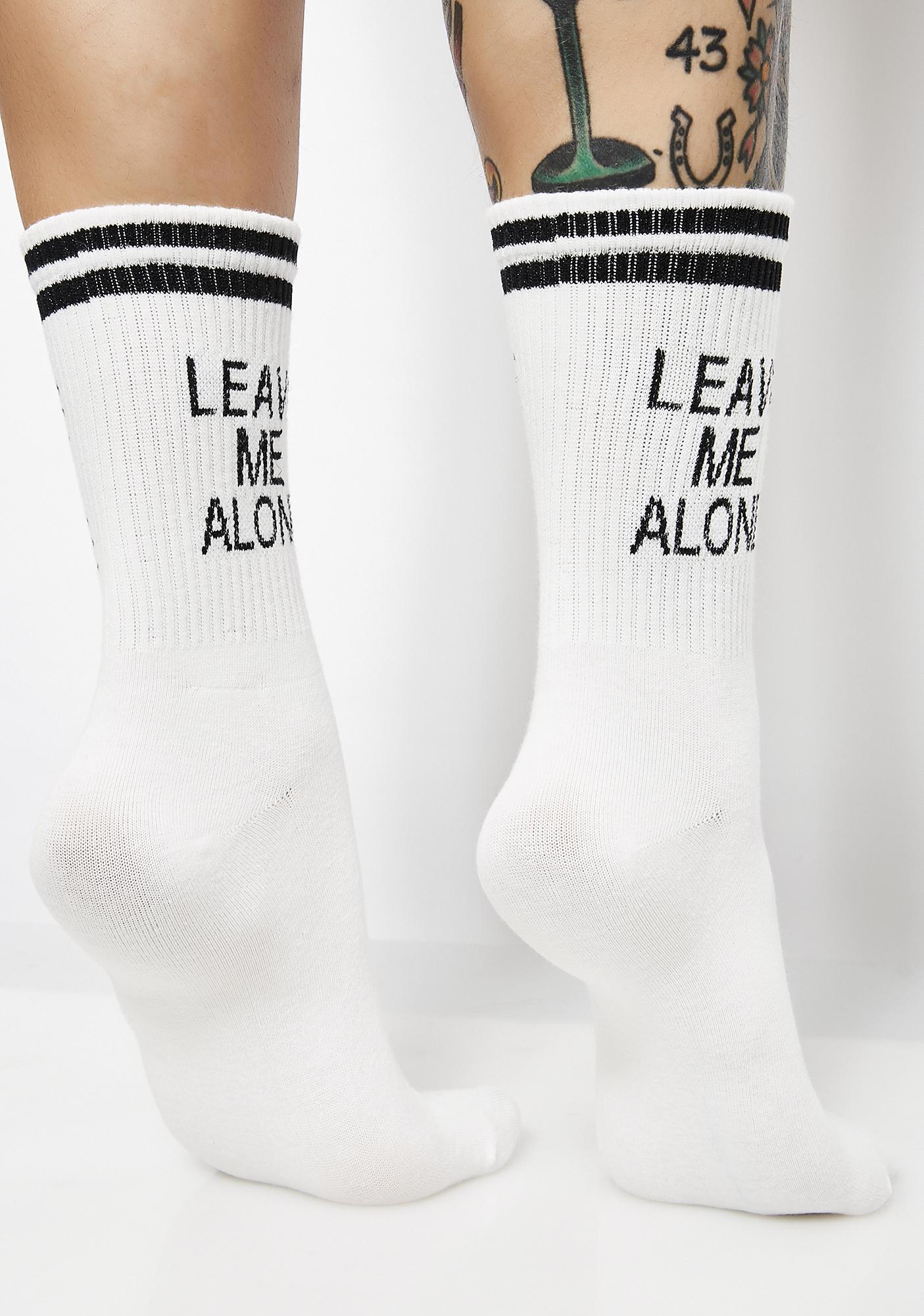 Leave Me Alone Socks
