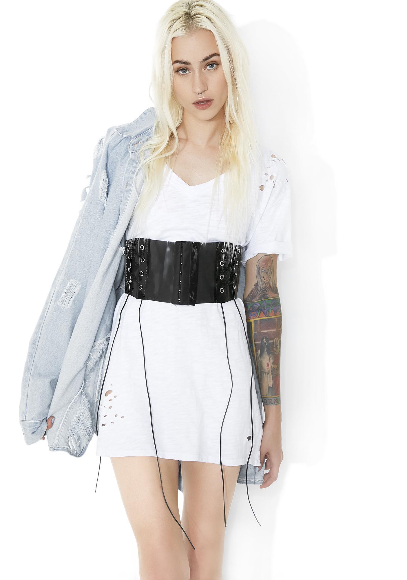 Dark Cyber Femme Corset Belt