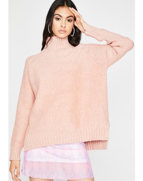 Baby Bright Vibes Turtleneck Sweater