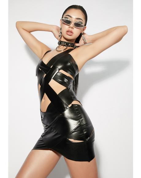 Noir My Best Thing Metallic Dress