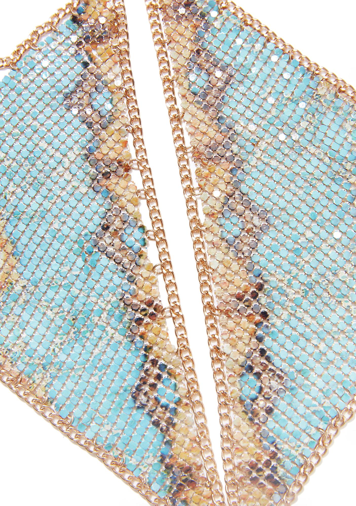 Blue Skies Chainmail Bralette