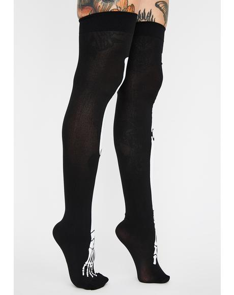 Bonafide Freak Thigh High Socks
