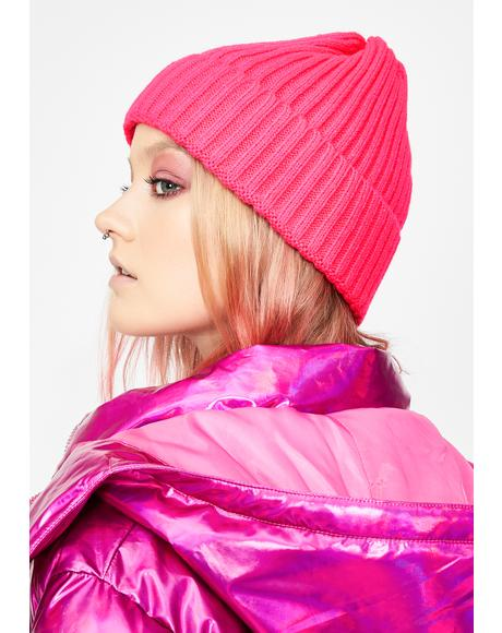 Sweet Winter Party Neon Beanie