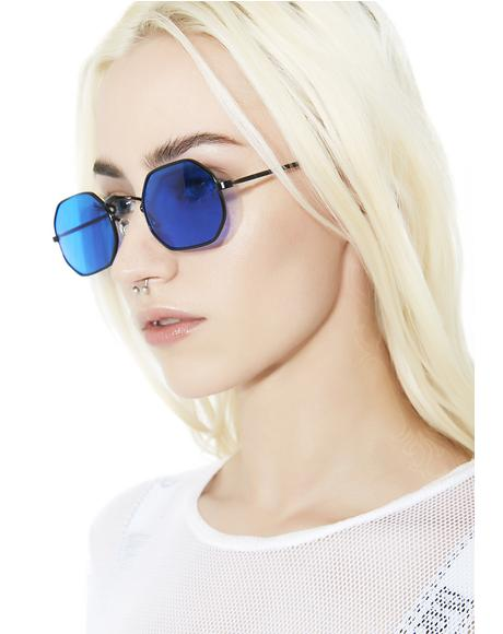 Psyborg Blue Tinted Sunglasses