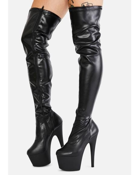 Ink Club Strut Thigh High Boots