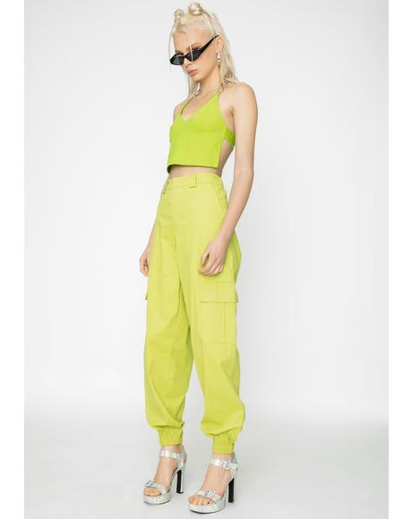 Green Antares Cargo Pants