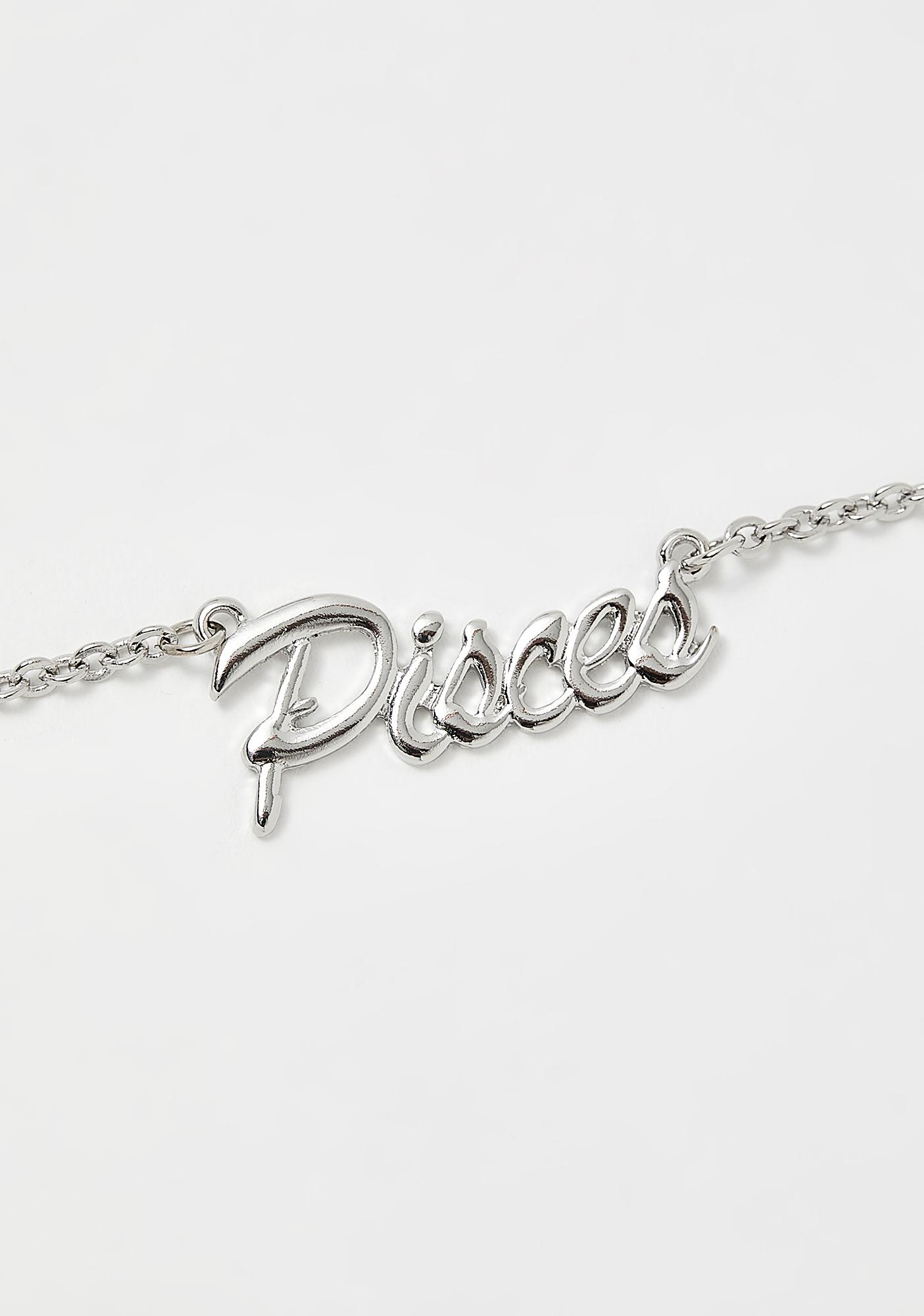 Princess Pisces Nameplate Necklace