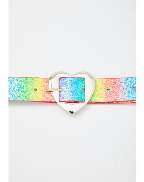 Lucky In Lust Heart Belt