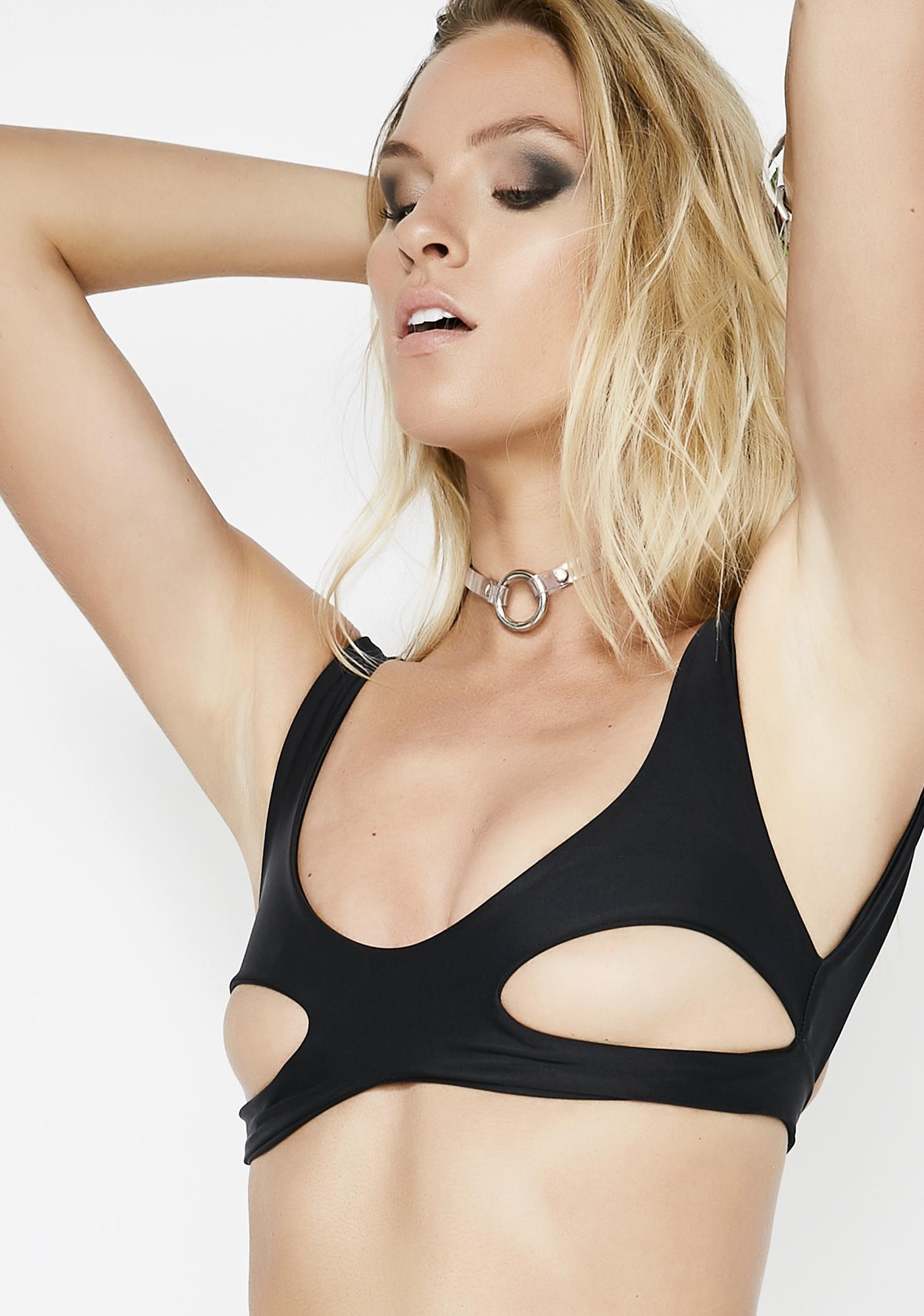 Lee + Lani Underboob Bikini Top